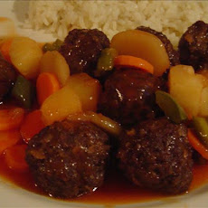 Sweet and Sour Meatballs (Oriental Sweet and Sour  Meatballs)