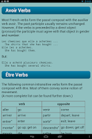 Screenshot of French Verbs