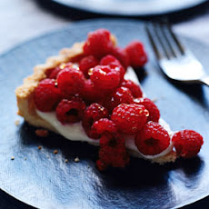 Raspberry Crème Frache Tart with Lavender Honey