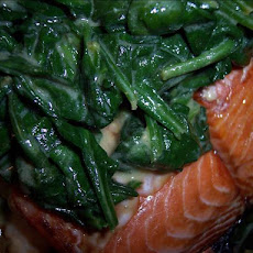 Salmon With Spinach and Mustard
