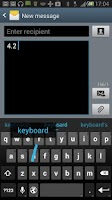 Screenshot of Jelly Bean 4.2 Keyboard