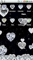 Screenshot of Diamond Hearts Gem Theme