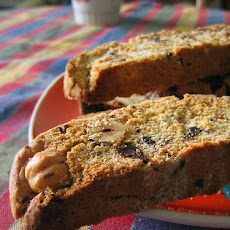 Chocolate, Cherry, and Hazelnut Biscotti