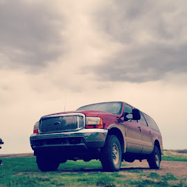.3l @powerstroke_outlaws by Kimberly Mehrer - Transportation Automobiles ( dirty, sexybeast, sask, ford, excursion, 7 )