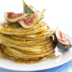 Sweet Ricotta Pancakes With Honey & Figs