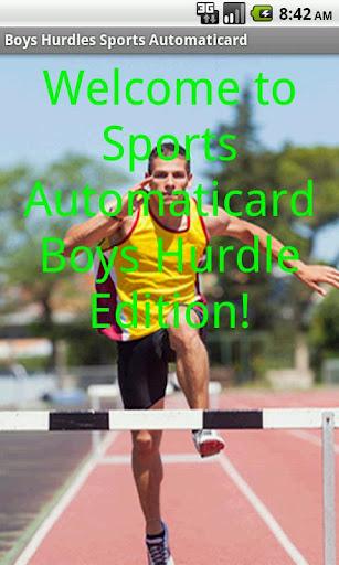 Boys Hurdles Card Creator Paid