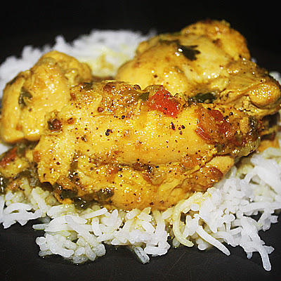 Chicken Curry With Roasted Coconut and Poppy Seeds