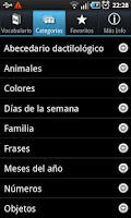 Screenshot of Lengua de Signos LITE
