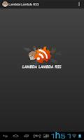 Screenshot of Lambda Lambda RSS