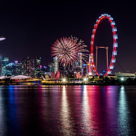 Celebration by Seow Hong - City,  Street & Park  Night (  )