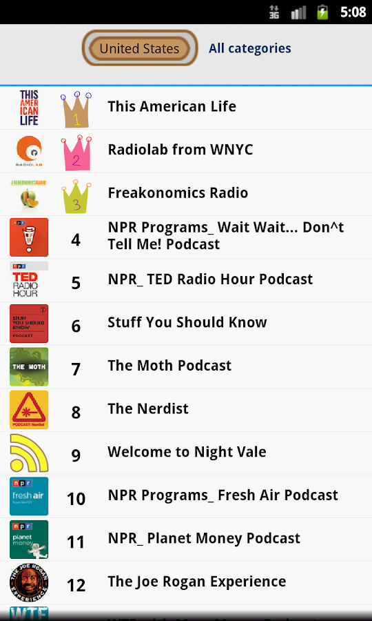 Ratpoison Podcast player-paid Screenshot 3