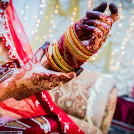 Bangles and Henna by Irfaan Hussein - Wedding Details ( henna, mehendi, wedding, beautiful, bangles, bride, close up )