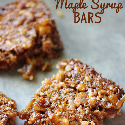 Maple Syrup Bars