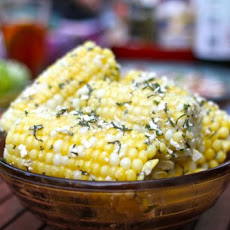 Grilled Corn & Avocado Salad with Lime & Basil
