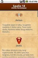 Screenshot of Dienos Horoskopas + Widget