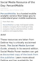 Screenshot of Social Media Resource a Day