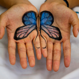 Butterfly by Tiffany Wu - Novices Only Street & Candid ( person, people, tattoo )