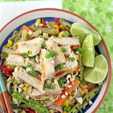 Thai Noodle Salad with Grilled Chicken