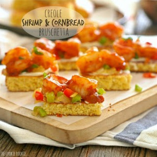Creole Shrimp and Cornbread Bruschetta
