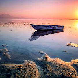 Heaven on the earth by Shenz Senichi Kunisada - Landscapes Sunsets & Sunrises