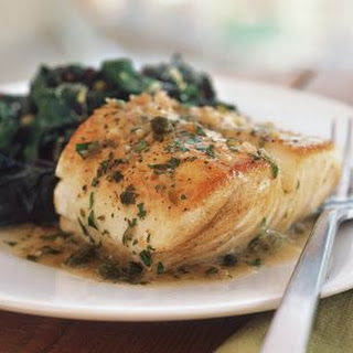 Fish with Lemon and Caper Sauce