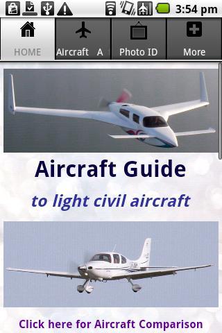 Aircraft Guide civil aircraft