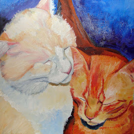 Frank  by Patty Bingham - Painting All Painting ( cats )