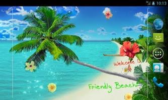 Screenshot of Beach Live Wallpaper Pro