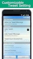 Screenshot of Tweet Alarm (Free Alarm Clock)