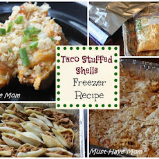 Taco Stuffed Shells Freezer Meal