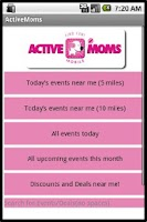 Screenshot of Active Moms Mobile
