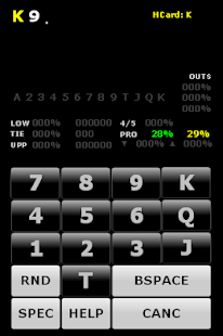 Rocker Poker Calculator - screenshot