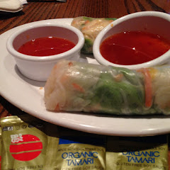 GF spring rolls. They have GF soy sauce packets.
