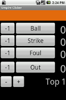 Screenshot of Umpire Clicker