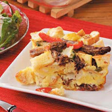Philly Beef 'n' Pepper Strata Recipe