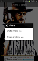Screenshot of Ennio Morricone Ringtones