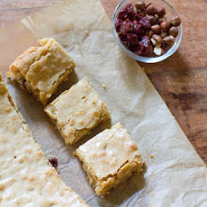 Hazelnut and Cherry Browned Butter Bar