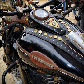 Wattisdatt by Marco Bertamé - Transportation Motorcycles ( fond de gras, steam punk, wattisdatt, motorcycle, luxembourg )