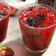 Blackberry and Cabernet Caipirinha Recipe