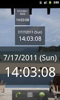 Screenshot of MKClock - with seconds counter