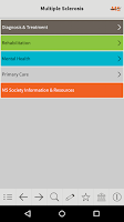 Screenshot of MS Diagnosis and Management