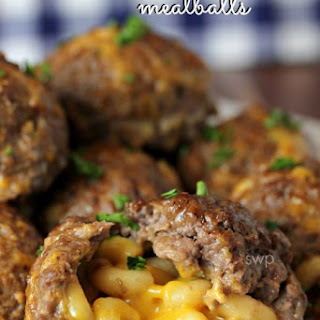 Mac & Cheese Stuffed Meat Balls!