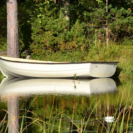 by Monique Anne Marchand - Nature Up Close Water ( water, peaceful, nature, peace, nice, lake, quiet, boat )
