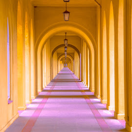 The Endless Corridor by Gary Hanson - Buildings & Architecture Architectural Detail ( training, marine, san diego, corridor, marines, endless,  )