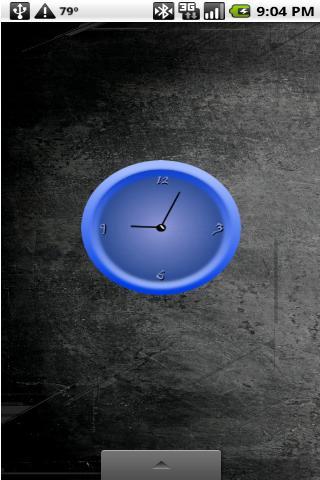 Blue Analog Clock
