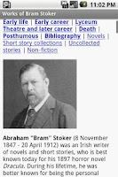 Screenshot of Works of Bram Stoker