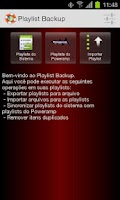 Screenshot of Playlist Backup
