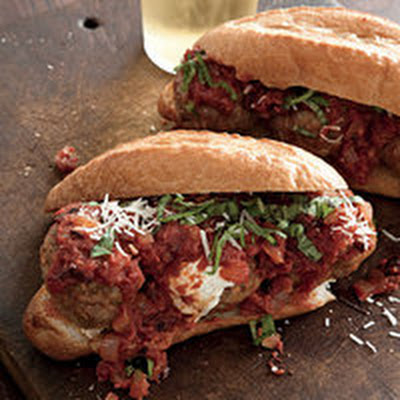 Stuffed Hot Sausage Meatball Subs