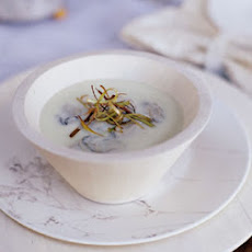 Oyster Soup with Frizzled Leeks