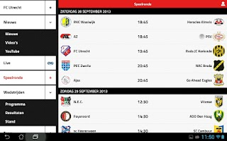 Screenshot of FC UTRECHT LIVE
